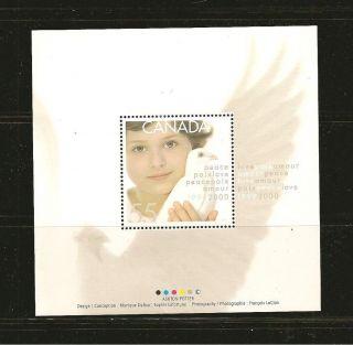 Canada 2000 Dove 55 Cents Souvenir Sheet photo