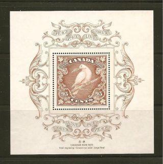 Canada 2000 Dove 95 Cents Souvenir Sheet photo