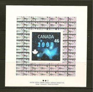 Canada 2000 Dove Hologram Souvenir Sheet photo