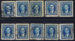 Canada 235 (18) 1937 5 Cent Blue King George Vi 10 photo