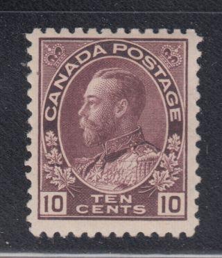 Canada 116a 1912 Vf Og Lh 10¢ Redish Purple Admiral Stamp Scv $300.  00 photo