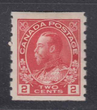 Canada 127 1912 Xf Og 2¢ Carmine Admiral Perf 8 Vertically Coil Scv $35.  00 photo