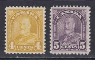 Canada 168 - 69 1930 F - Vf 4¢ & 5¢ King George V Arch Issue Scv $43.  00 photo