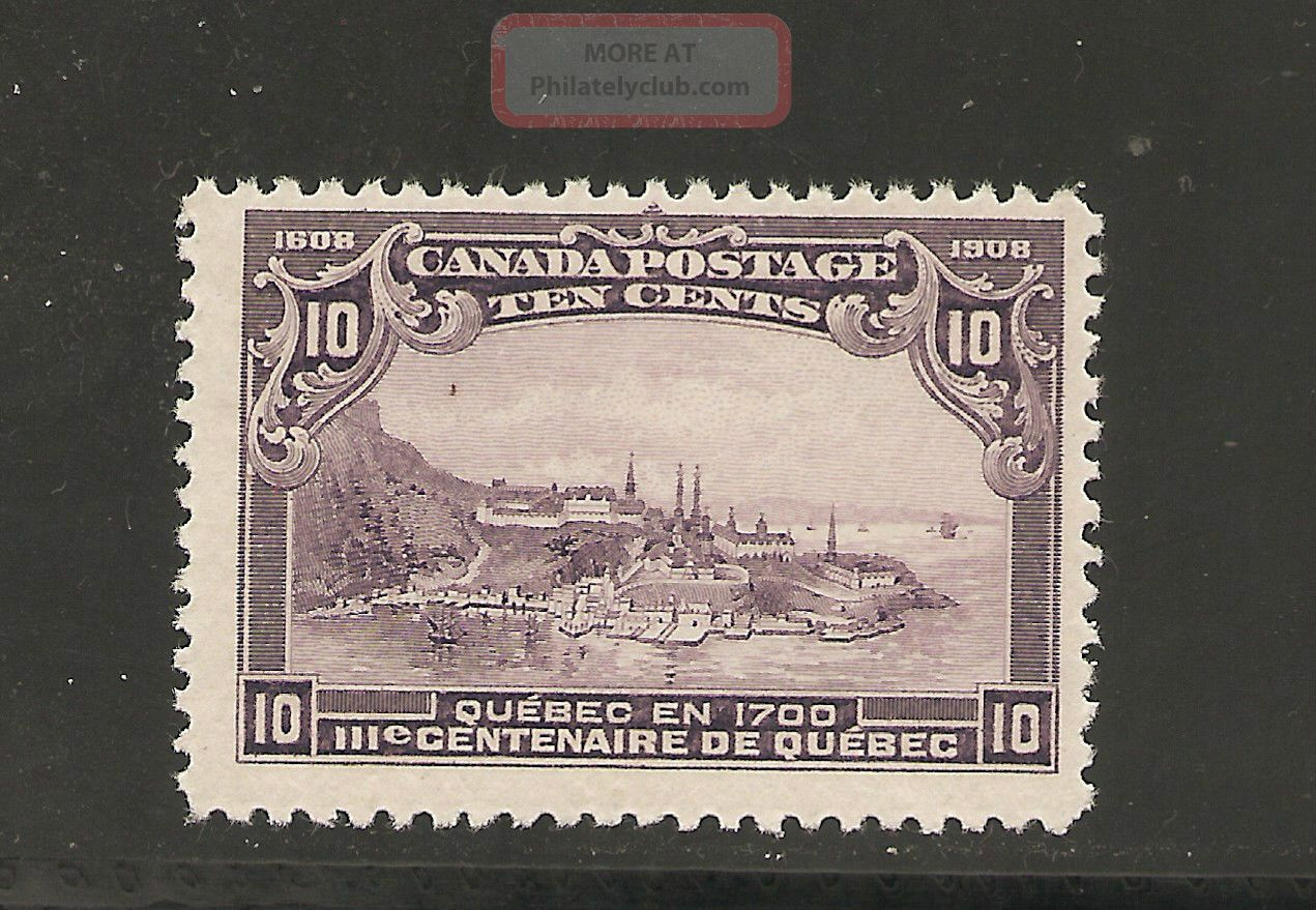 Quebec Tercent.  Issue 10 Cents Quebec In 1700 101 Nh Canada photo