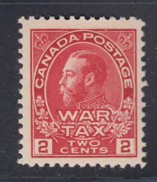 Canada Mr2 Vf 2¢ Carmine War Tax George V Admiral Scv $60.  00 photo