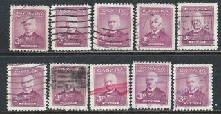 Canada 318 (1) 1952 3 Cent Rose Lilac Sir John Abbott 10 photo