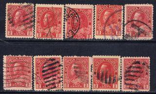 Canada 106 (8) 1911 2 Cent Carmine & Shades George V 10 photo