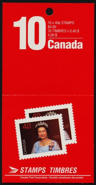 Canada 1168a Open Booklet Bk126 Queen Elizabeth Ii photo