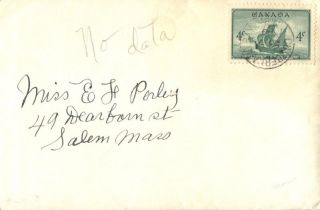 Canada Cumberland Bay Brunswick 1949 Postmark On Cover photo