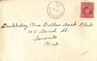 Canada Roversville Brunswick 1946 Postmark On Cover photo
