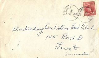 Canada Debec Brunswick 1945 Postmark On Cover photo