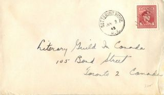 Canada Butternut Ridge Brunswick 1945 Postmark On Cover photo