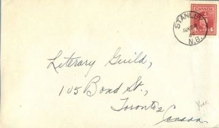Canada Stanley Brunswick 1945 Postmark On Cover photo