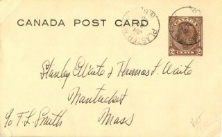 Canada Plaster Rock Brunswick 1940 Postmark On Card photo