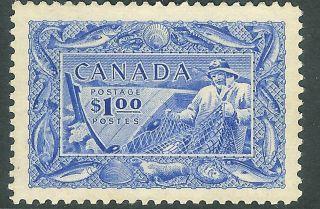 Canada 1951 Ultramarine $1 Unmounted Sg433. photo