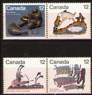 Canada 1977 Sc749a,  51a Mi676 - 79 2.  70 Mieu 2 Pairs Inuit Art photo