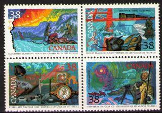 Canada 1989 Sc1236a Mi1128 - 31 3.  50 Mieu 1 Block Exploration Of Canada photo