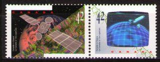 Canada 1992 Sc1442a Mi1323 - 24 2.  40 Mieu 1 Pair Canada In Space photo