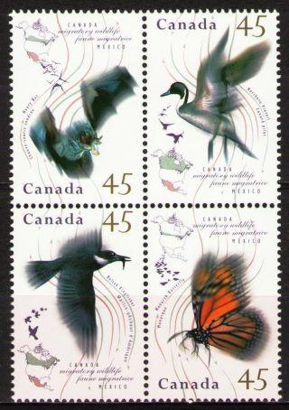 Canada 1995 Sc1567a Mi1500 - 03 (ii) Bl Migratory Wildlife photo