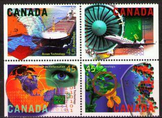 Canada 1996 Sc1595 - 98 Mi1533 - 36 4.  00 Mieu 1bl High Technology Industries photo