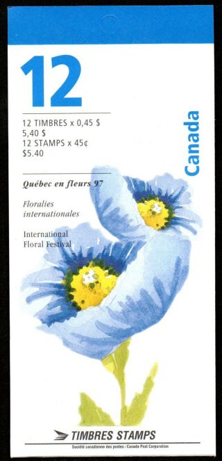 Canada Bk199b (1638a) Complete Booklet - Blue Poppy photo