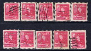 Canada 304 (6) 1951 4 Cent Rose Pink William Lyon Mackenzie King 10 photo