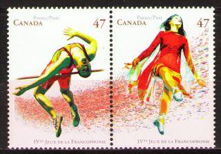 Canada 2001 Sc1895a Mi1971 - 72 2.  00 Mieu 1 Pair Games Of La Francophonie photo