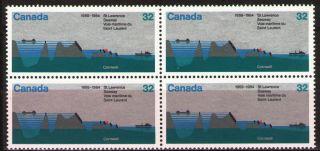 Canada 1984 Sc1015 Mi909 2.  80 Mieu 1 Block St.  Lawrence Seaway photo