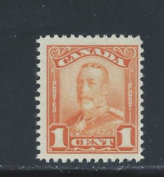 King George V Scroll Issue 1 Cent Orange 149 Nh photo