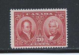 Historical Issue 20 Cents Baldwin & Lafontaine 148 Nh photo