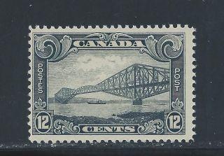 King George V Scroll 12 Cents Quebec Bridge 156 Nh photo