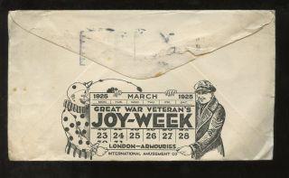 Advertising Illustrated 1925 Canada Tecumseh Hotel. . .  Clown + Veteran Joy Week photo