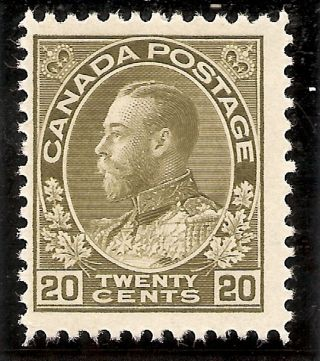 King George V Admiral 20 Cents Olive Green 119 Mh photo