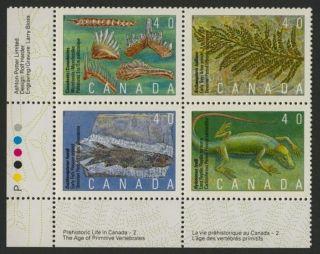 Canada 1309a Bl Block Fossils,  Prehistoric Life photo