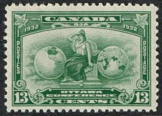 Canada,  1932,  13c Green,  ' Ottawa Conference ',  Unmounted,  Sg 317 photo