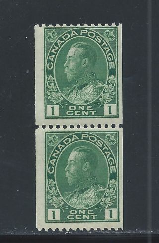 King George V Admiral Coil Pair 1 Cent 131 Nh photo
