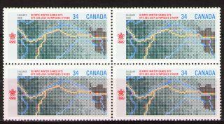 Canada 1986 Sc1077 Mi986 2.  40 Mieu 1block 1988 Winter Olympics,  Calgary photo