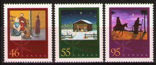 Canada 2000 Sc1873 - 75 Mi1939 - 41a 3.  60 Mieu 3v Christmas photo
