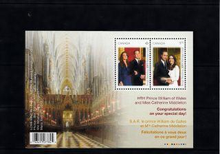 Canada 2011 Royal Wedding 2v Sheet Prince William Catherine Middleton photo