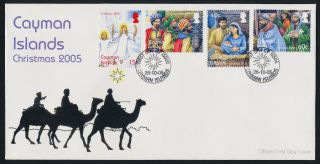 Cayman Islands 948 - 51 On Fdc - Christmas,  Angels,  Three Kings,  Shepherds photo