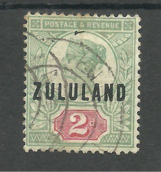 Zululand Sg3 The 1888 - 93 2d Green And Carmine Fine Cat £48 photo