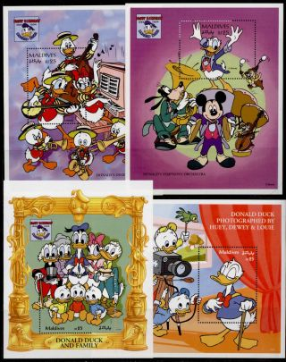 Maldives 2061 - 4 Disney,  Donald Duck 60th,  Music,  Movies photo