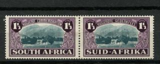 South Africa 1939 Sg 84 1.  5d Huguenot Anniv Mh Pair A15120 photo