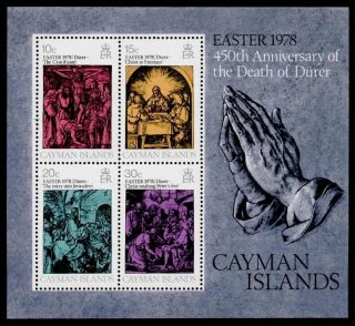 Cayman Islands 399a Art,  Durer,  Easter photo