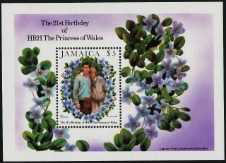 Jamaica 538 Princess Diana 21st Birthday,  Flowers photo