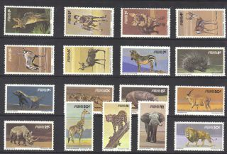 South West Africa 1980c Definitives 17v Sg.  349 - 365 Unmounted Re:pb441 photo
