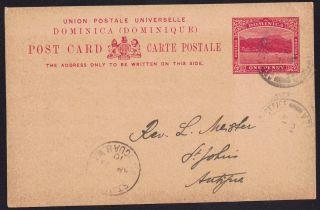 Dominica 1910 1d Pre - Paid Pc Gen Post Office 21 Apr 1910 photo