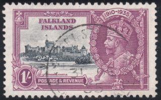 Falklands Islands 1935 Jubilee Sg142b Short Extra Flagstaff Stamp photo