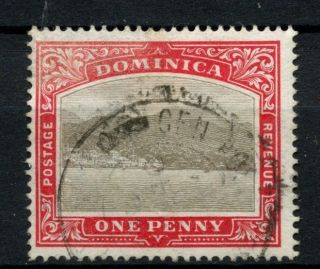 Dominica 1903 - 7 Sg 28,  1d Grey And Red A56805 photo