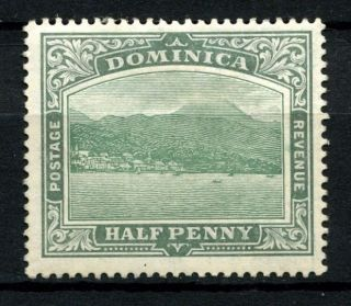 Dominica 1908 Sg 47,  1/2d Blue Green Mh Crown To Right Of Ca A56806 photo